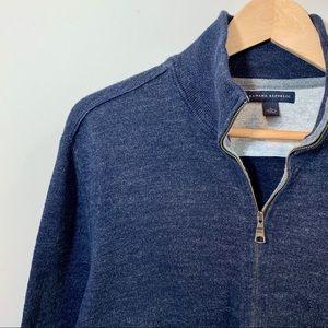 BANANA REPUBLIC Men's Blue Zip Up Sweater Size L
